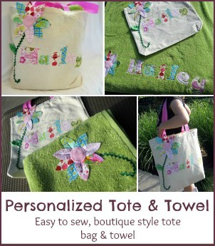 towel tote bag pattern test