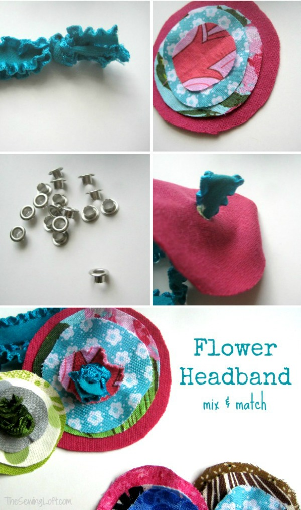 Easy Flower Elastic Headbands | The Sewing Loft