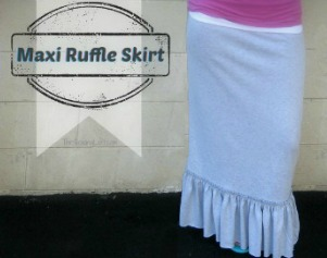 Easy Maxi Skirt Pattern with ruffle   The Sewing Loft