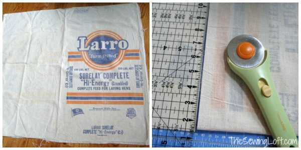 Oversized Bag from a feed sack | The Sewing Loft