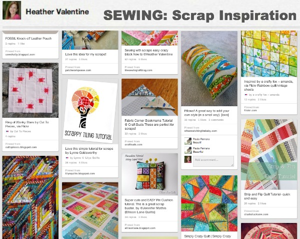 Scrap Fabric Inspiration Pinterest | The Sewing Loft