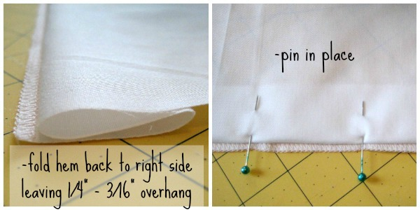 Blind Stitch Folding Method | The Sewing Loft
