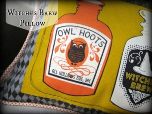 Witches Brew Pillow: Blend Fabrics