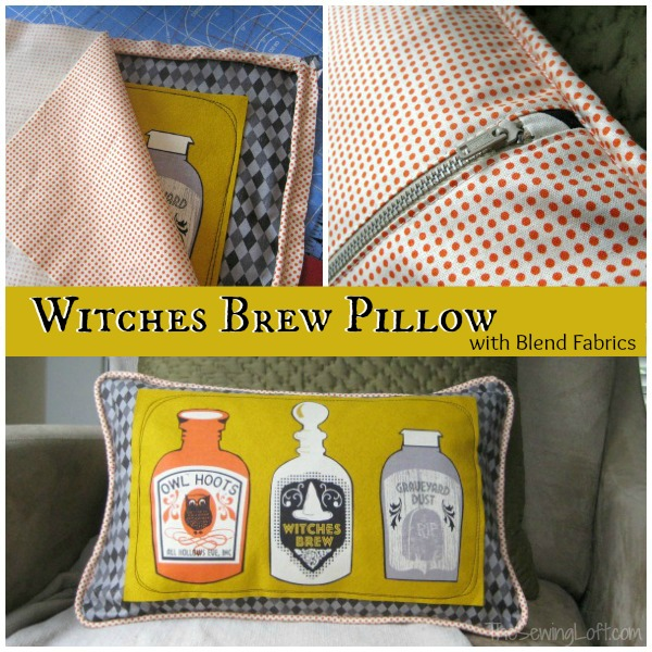 Witches Brew Spooktacular Pillow   The Sewing Loft