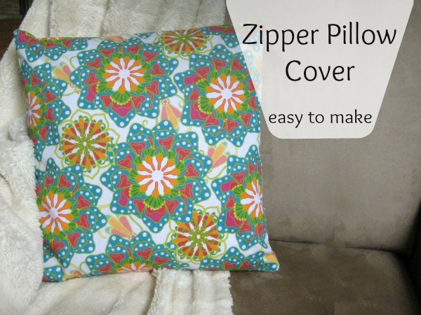 How To Make Zippered Throw Pillow Covers : Easy Zipper Pillow Cover - The Sewing Loft