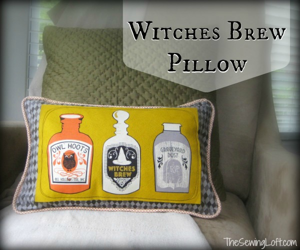 Witches Brew Pillow by The Sewing Loft