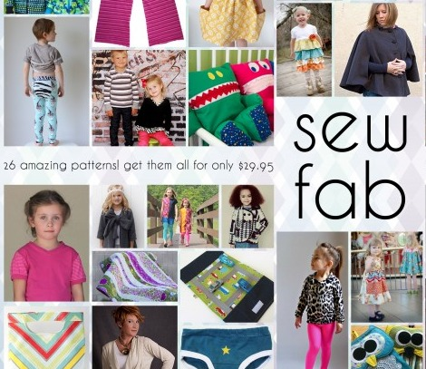 Amazing Bundle Sale - 26 designers create this fantastic sew fab e-pattern collection.