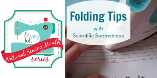 Folding Template National Sewing Month | The Sewing Loft