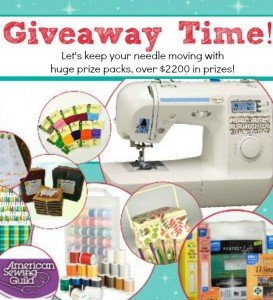 National Sewing Month 2013 Giveaway Time!