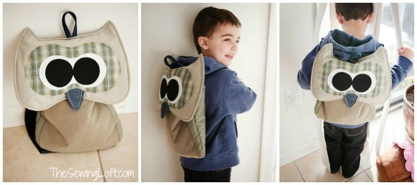 Owl Backpack Pattern by The Sewing Loft