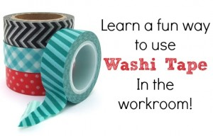 Washi Tape in the workroom | NSM
