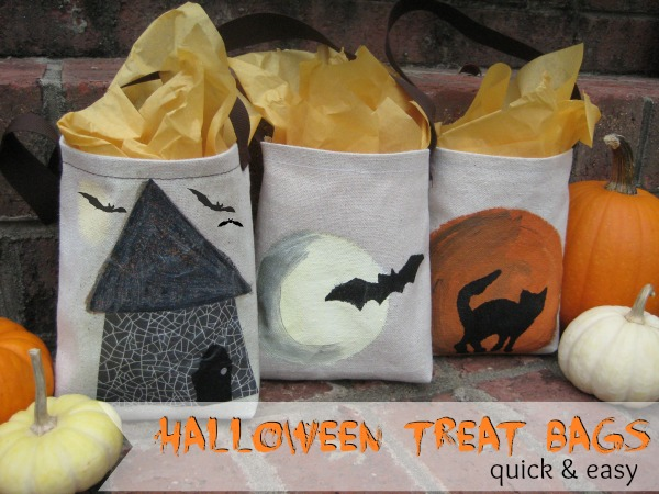 Halloween Treat Tote Bags by The Sewing Loft