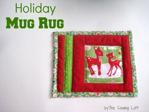 Holiday Mug Rug by The Sewing Loft