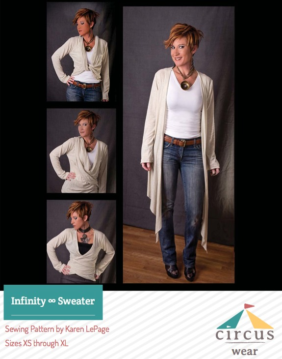 Selfish Sewing | Infinity Sweater from One Girl Circus on The Sewing Loft