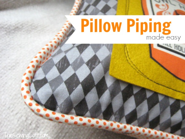 Pillow piping made easy the sewing loft