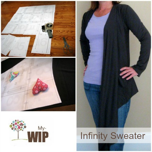 My selfish sewing WIP. Infinity Sweater from One Girl Circus