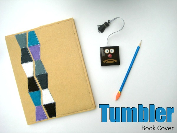 The tumblers is a perfect shape for English Paper Piecing.  Free book cover pattern by The Sewing Loft