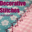 Decorative Stitches   Sewing Tips