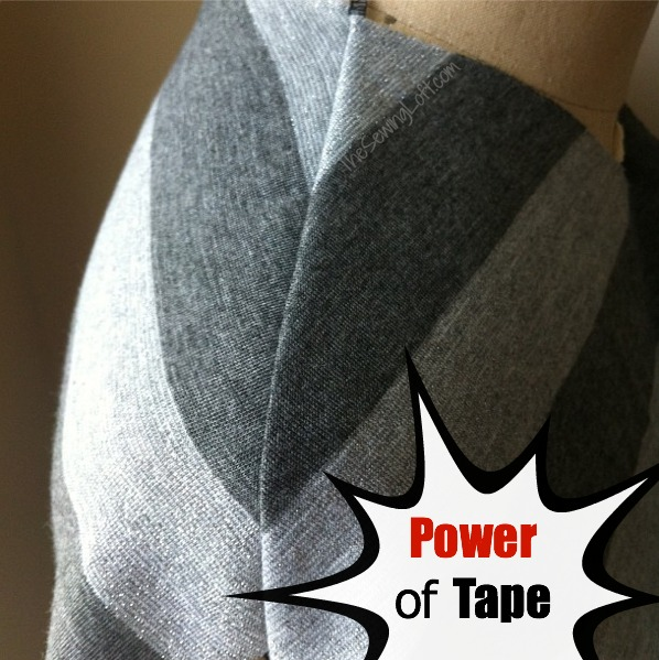 Stay Tape is perfect for sewing with knits. Quick Tip by The Sewing Loft #sewingtip #sewing