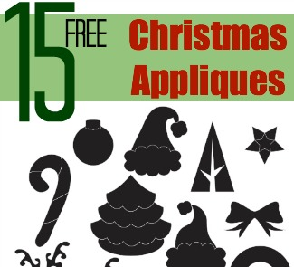 15 free christmas appliqu designs the sewing loft