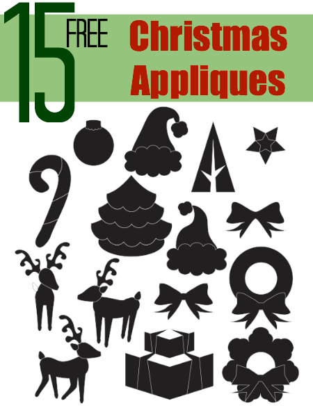 15 free christmas appliqu designs