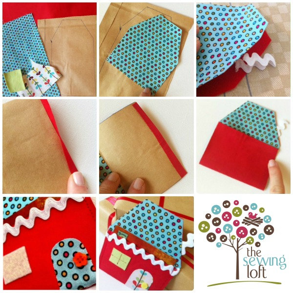 Candy House Gift Card Holder How To on The Sewing Loft