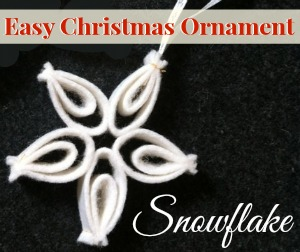 Easy Christmas Ornament | Snowflake