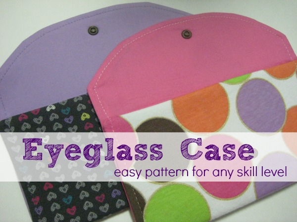Easy Eyeglass Case Pattern on The Sewing Loft #sewing #freepattern