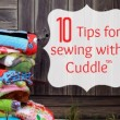 Top Sewing tips for working with Cuddle by The Sewing Loft #sewing #sewingtips
