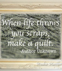 Life Throws You Scraps Sewing Artwork by Studio Mailbox on The Sewing Loft