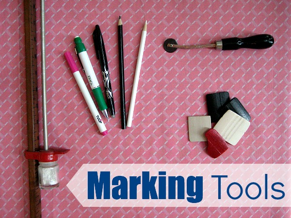 Different types of Marking Tools on The Sewing Loft