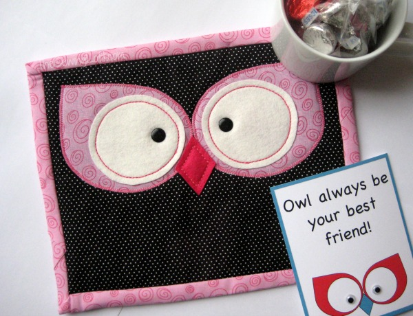 Free Valentine S Day Printables Amp Owl Mug Rug The Sewing