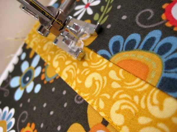 Pocket detail on Bucket Bag by The Sewing Loft