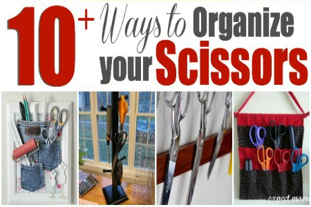 Scissor Organization is a must. 10+ ways to keep your tools tidy. The Sewing Loft