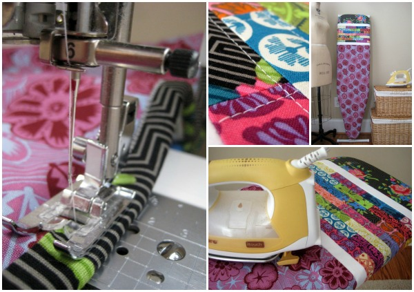 Ironing Board Cover using True Colors fabric | The Sewing Loft  #lovefabricfreespirit