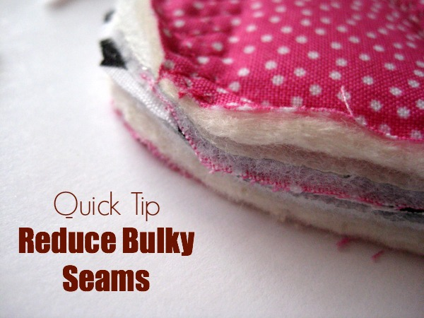 Bulky seams Quick Tip The Sewing Loft