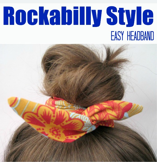 Rockabilly Headband Tutorial on The Sewing Loft