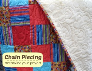 Chain piecing is the perfect way to streamline your sewing on large projects. Learn the basics at The Sewing Loft.