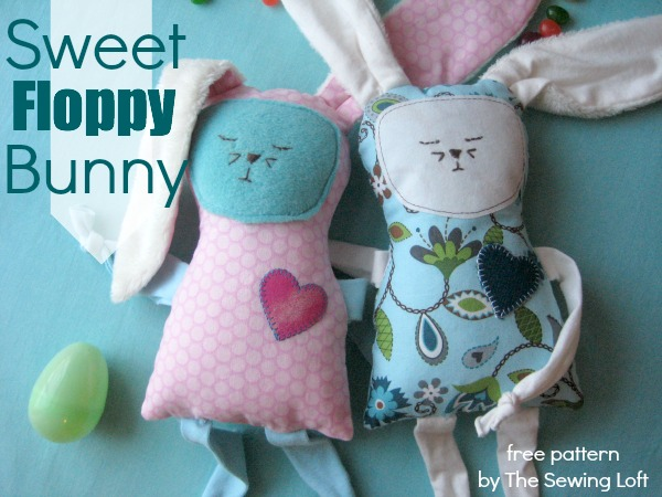 Sweet Floppy Bunny | Clever Sewing Projects To Upcycle Fabric Scraps