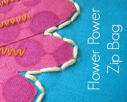 Flower Zipper Pouch Pattern. The Sewing Loft