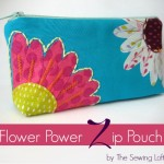 Flower Zipper Pouch Pattern. The Sewing Loft #freepattern