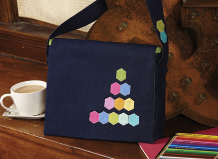Paper Pieced Messenger Bag designed by The Sewing Loft