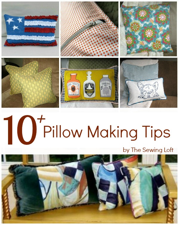 tips for making pillows on the sewing loft also includes inspiration and free patterns - Home Decor Cushions