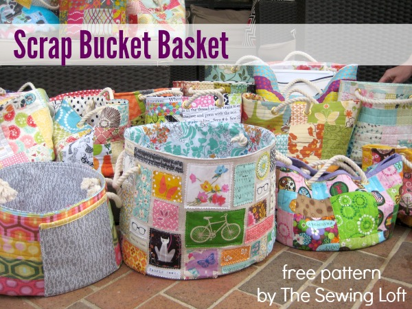 Download This Scrap Bucket Pattern Today And Store Your Scraps In Style The Sewing Loft