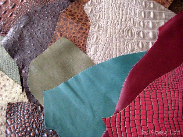 Leather can be an amazing fabric to work with. It comes in so many different colors and can be embossed for a beautiful texture but it is important to use the correct needle size in your machine.  The Sewing Loft