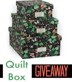 Quilt Box Organization & Giveaway