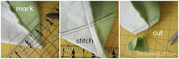 Learn how to make a mitered corners in 3 easy steps. The Sewing Loft