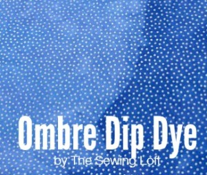 Ombre Dip Dye Effect on Fabric