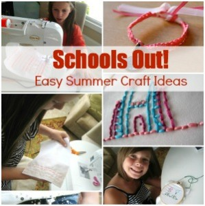 Schools Out!  Kids Crafts
