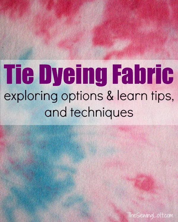 Learn how to Tie Dye Fabric with simple tips and techniques. Part of a fabric dyeing mini series on The Sewing Loft.